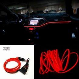 2019 luzes de cabo de led 10 Cores de luz interior 1 metro led el linha de tubo de corda de fio de luz de néon flexível brilho tira plana caminho 12 V Isqueiro do inversor