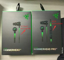 Wholesale Headphones Headsets Pro - Razer Hammerhead Pro V2 Headphone in ear earphone With Microphone With Retail Box In Ear Gaming headsets Noise Isolation Stereo Bass 3.5mm
