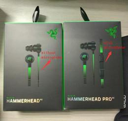 Wholesale Gaming Headphones Microphone - Razer Hammerhead Pro V2 Headphone in ear earphone With Microphone With Retail Box In Ear Gaming headsets Noise Isolation Stereo Bass 3.5mm