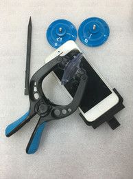 Wholesale Double Screen Mobile - Free Shipping Mobile CellPhone LCD Screen Sucker Opening Tools Double Separation Clamp Plier Repair Disassembly For iPhone samsung LG