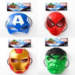 Wholesale Spiderman Latex - Superhero masks Spiderman Avenger Spiderman Captain children kids Cosplay masks cartoon masks Superhero Party Cosplay Helloween Movie Masks