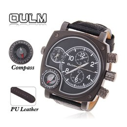 Wholesale Oulm Watches For Men - Oulm brand watch with quartz movement wristwatches for the christmas gifts watch with fuctional dial for the business man for the gifts
