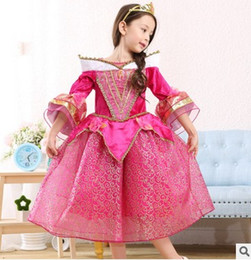 Wholesale Dresses For Dances - Princess Dress for Girls Tulle Ruffle Kids Party Dresses Fashion Princess Aurora dance performance clothing Children's day gift 6222