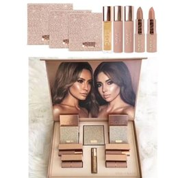 Wholesale Eyeshadow Lipgloss Set - Dose of colors Makeup Set Desi X Katy Set THE GIRLS eyeshadow palette from the Collection 4 colors eyeshadow highlighter Lipstick Lipgloss