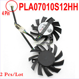 Wholesale msi wholesale - Wholesale- 2 pcs lot PowerLogic PLA07010S12HH 65MM 0.50A Long Life Bearing Graphics Card Fan For MSI 5770 6770 Twin Frozr II as replacement
