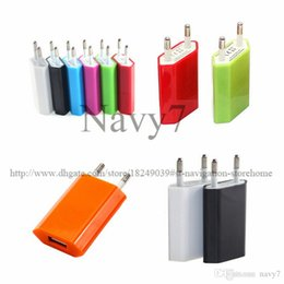 Wholesale Power Charger Iphone Genuine - EU US Plug Genuine 5V 1A 1000mah USB Power Travel Adapter AC Wall Charger for iphone 6 6G 4 4S 5 5G 5S 5C Samsung Galaxy HTC