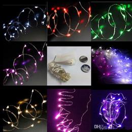 gran bola de luces de navidad Rebajas cadena led decoraciones de luces navideñas Navidad CR2032 con pilas 2M 20 LEDS micro led cadena de luz de hadas Cable de cobre led cadena