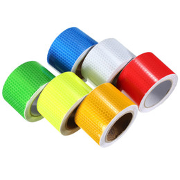 Wholesale Car Rubbers Seals - Wholesale-Lowest Price Reflective Film Car Reflective Tape White Honeycombs Vinyl Roll Self-adhesive Truck Boat 50MM x 5M