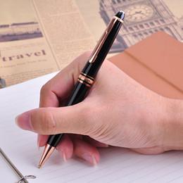 Deutschland 1 stück mont 163 luxus glatte schwarze kugelschreiber mit schwarzer Tinte Mb Pens Business Gift Büro Schulbedarf Schreibwaren Weihnachtsgeschenk Versorgung