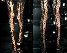 botas de estilete vermelhas abertas Desconto Mulheres Sexy Preto Sandálias Vermelhas Bota Cross-Strappy Lantejoulas See-thru Longos Sapatos Acima do Joelho Coxa Botas Altas Dedo Aberto Rendas Até Botas Gladiador