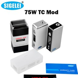 Wholesale Vw Cases - Sigelei 75w TC Box Mod with Silicone Case VV VW Vape Mods Fit Temple RDA Sigelei Moonshot Vaporizer Atomizers 100%Original Vs T150 150W