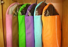 Wholesale Suit Dust Cover Bag - Clothing suit dust cover non-woven thickening transparent dust cover storage bag clothes cover dust bag