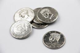 Wholesale Magic Half Dollar - Wholesale-Free Shipping! 5pcs lot Half Dollar Coin high quality copy Silver, magic tricks wholesale, magic toys