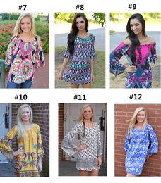 Wholesale Thailand Fashions Wholesalers - Bohemia Boho Mini Dress Thailand Style Beach Dress Fashion Off Shoulder 2016 Summer Women Clothes Clothing Casual Dresses 108