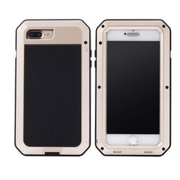 Wholesale Drop Water Case - Luxury Doom armor Dirt Shock Waterproof Metal Aluminum phone bags case For iphone 7 iphone 7 Plus cover+Tempered glass 1 pcs drop shipping