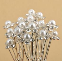 Wholesale Cheap Hair Balls - cheap Wedding Accessories Bridal Pearl Hairpins Flower Crystal Rhinestone Hair Pins Clips Bridesmaid Women Hair Jewelry
