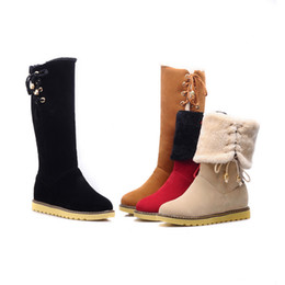 Wholesale Over Knee Warm Boots - Origial Brand Autumn Winter Women Warm All-match Snow Boots Women High Quality Suede Boots Female Outdoor Warm Thigh-High Boots
