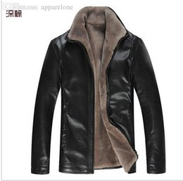 Wholesale Winter Jackets Fur Inside - Fall-new winter fashion man outdoors motorcycle jackets High quality Genuine leather jacket men coat with fur inside XXXL 7126