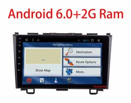 Wholesale New V Core - NEW! Android 6.0 2 DIN 9 inch Quad Core Car dvd Video GPS For Honda CRV 2006-2011 Capacitive screen 1024 *600+wifi+2G RAM+4G+SWC