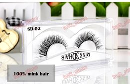 Wholesale Hair Design - 3D MINK hair nutural design,handcraft false eyelashes 1 pair in hard plastic case factory 15 design compare quality accept OEM