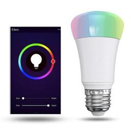 Wholesale Led Home Lighting E27 - RGBW LED Bulb E27 AC 85-265V Smart Home Color Changing Light Spotlight Down Lamp Bulbs Bluetooth Wireless Interface Lampada