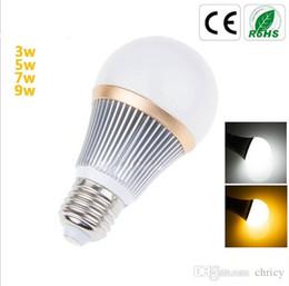 Wholesale Led Light Blubs - led light bulbs E27 LED dimmable aluminum bulb 3W 5W 7W 9W AC110-240V Epistar chip led light blubs
