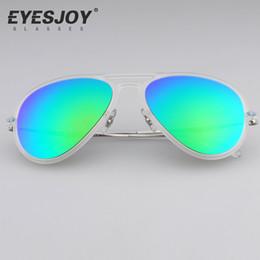 Wholesale Green Light Drivers - Brand Designer Sunglasses for men Ultra-light Frames Glasses Toad Mirror Lens Eyeglasses Driver With Sunglasses Box EJ4211