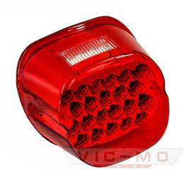 Красный светодиодный мотоцикл онлайн-Мотоцикл Красный светодиодный хвост для Harley Davidsion Touring FLHT Sportster 883 XL1200 Детали FLTRI Задний тормозной свет дыма
