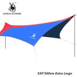 Wholesale Iron Tent - Wholesale- 550*560cm Iron Poles UV Beach Tent Sun Shelter Arbor Folding Rainproof Awning Balcony Camping Tent Awning Travel Sunshade Tarp