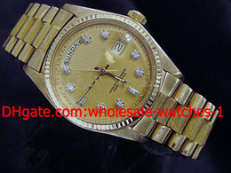 Wholesale Mens Watch Diamond Dive - Wholesale - Mens 18k Yellow Gold Day Date President W Diamonds Perpetual Luxury Automatic Dive Men's Watches