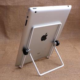 """2019 suportes grossos de metal pequeno Titular Suporte ajustável Multi-ângulo de 180 Graus Dobrável Portadores de Suporte Portátil para 7 """"8"""" 9.7 """"Tablet PC iPad atc. Livre DHL"""
