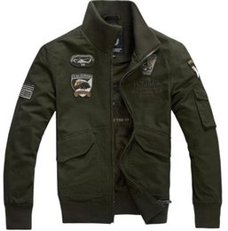 Wholesale Men Leader Jacket - Washed cotton jackets, Air Force One, a leader in dress standing tooling jacket, men's casual Coat Size:M-XXXXL