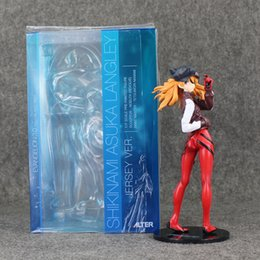 Wholesale Asuka Langley - 22cm Neon Genesis Evangelion Souryu Asuka Langley PVC Action Figure Collection Model for Kids Toy free shipping