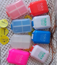 Wholesale Mini Pills Case - Folca Pill Case Medicine Storage Box 8 Compartments Medical Container Pill Storage Case Jewelry Case mini plastic case stash D889