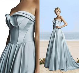 Wholesale Al Training - Hamda Al Fahim Pleats A Line Evening Dresses Sweetheart Sweep Train Evening Gowns Formal Simple Cheap Prom Dress