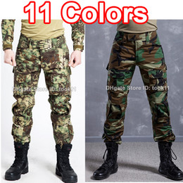 Wholesale German Army Military - Army military clothing multicam camo combat tactical pants hunting clothes camouflage fatigues german acu kryptek mandrake paintball pants