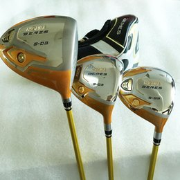 Wholesale Golf Complete Sets - New Golf clubs Honma S-03 4star Golf wood set Driver+Fairway woods Graphite Golf shaft and Clubs headcover Freeshipping