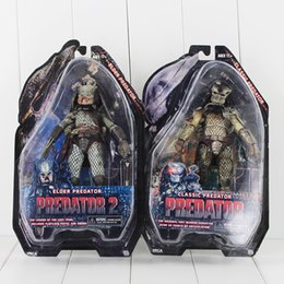 Wholesale neca toys - NECA Elder Predator and Classic Predator PVC Action Figure Collectable Model Toy 18cm 2styles  set free shipping retail
