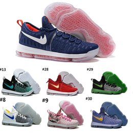 Wholesale Cheap Kd Free Shipping - 2016 Top quality Kevin KD 9 Team USA Gold Medal Mens Basketball Shoes Cheap Sale Durant Airs Cushion Sneakers Size 7-12 Free Shipping