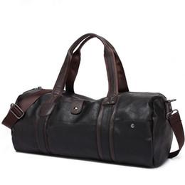 Wholesale Handbag Oil - 2016 New Arrival Oil Wax Leather Handbags For Men Large-Capacity Portable Shoulder Bags Men's Casual Travel Bags Package