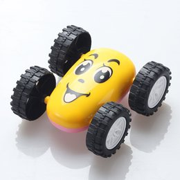 Wholesale Double Men Toys - New large-size wear-resistant smile pink piglets Spider-Man inertia double-sided dump truck to spread the toy wholesale