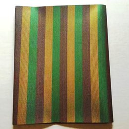 Wholesale Swiss Headtie - LHD-7-2 2016 new design African Gele Head tie,Swiss sego fabric, brown&gold&green stripe African headtie Sego Gele and Ipele 2 pcs in a pack