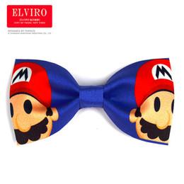 Wholesale Cartoon Mens Ties - Free shipping mens cartoon super mario bow ties stage performance tuxedo bow ties