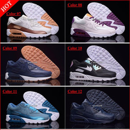 Wholesale Discount Ladies Running Shoes - Discount Hight Quality Brand New Womens Air Sports 90 Running Shoes Black Red Women Trainers Sneakers Woman Lady Sports Walking Tennis Shoes