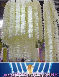 "Wholesale Orchid Wedding Bouquet - 79"" 2Meter long Elegant Artificial Orchid flower Wisteria Vine Rattan For Wedding Centerpieces Decorations Bouquet Garland Home Ornament MYY"