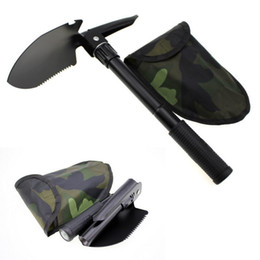 Wholesale Survival Tools Shovel - Multi-function Folding Camping Shovel Survival Trowel Dibble Pick camping tool Outdoor emergency accessories