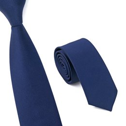 Wholesale Official Brand - Mens Blue Necktie New Brand Fashion Casual Official Wedding Evening Party Gravata Slim Ties for Men Skinny Yarn Dyed Tie E-005