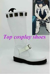 Wholesale Dramatical Murder Cosplay Costume - Wholesale-Freeshipping custom-made anime DRAMAtical Murder SEI Cosplay Boots Shoes for Halloween Christmas festival