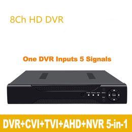 Гибридный dvr nvr онлайн-1080p 2-мегапиксельной камеры CCTV канала 1080N 8 8ch видеонаблюдения видеорегистратор гибридный 5 в 1 камера ONVIF сетевой видеорегистратор TVI ХВН AHD видеорегистратор H. 264