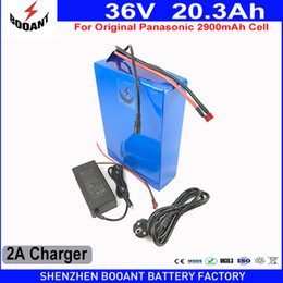 Wholesale E Bike Chargers - BOOANT E-Bike Battery 36v 20.3Ah 800w for Panasonic 2900mAh 18650 Cell with 2A Charger 30A BMS Lithium Battery 36v Free Shipping